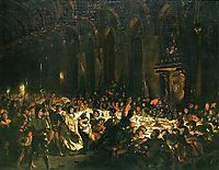 The Assassination of the Bishop of Liege, 1829, delacroix