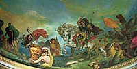 Attila and his Hordes Overrun Italy and the Arts, 1847, delacroix