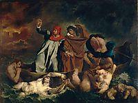 The Barque of Dante (Dante and Virgil in the Underworld), 1822, delacroix