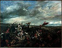 Battle of Poitiers, 1830, delacroix