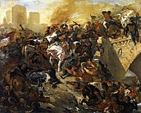 The Battle of Taillebourg, draft, 1834-1835, delacroix