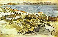 Bay of Tangier in Morocco, delacroix