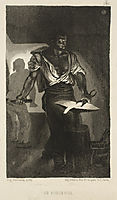 A Blacksmith, 1833, delacroix