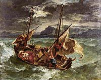 Christ on the Lake of Gennezaret, 1854, delacroix