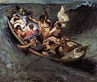 Christ on the Lake of Gennezaret, sketch, 1841, delacroix