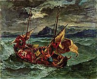 Christ on the Sea of Galilee, 1854, delacroix