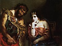 Cleopatra and the Peasant, 1838, delacroix