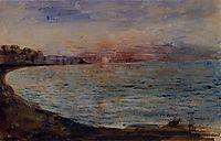 Cliffs near Dieppe, 1855, delacroix