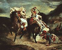 Combat Between the Giaour and the Pasha, 1826, delacroix