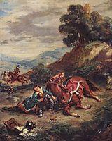 The death of Laras, 1858, delacroix