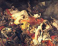 Death of Sardanapalus, 1827, delacroix