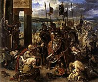 The Entry of the Crusaders into Constantinople, 1840, delacroix