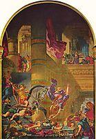 The Expulsion of Heliodorus, 1861, delacroix