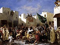 The Fanatics of Tangier, 1837-1838, delacroix