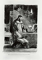 Faust in his Study, 1828, delacroix