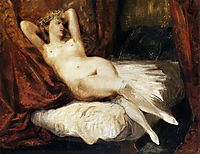 Female Nude Reclining on a Divan, 1825-1826, delacroix