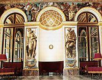 Frescoes on the west wall (Salon du Roi, Palais Bourbon, Paris), 1837, delacroix
