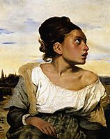 Girl Seated in a Cemetery, 1824, delacroix