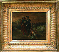 Hamlet and Horatio in the cemetery, 1839, delacroix