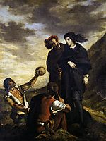 Hamlet and Horatio in the Graveyard, 1839, delacroix