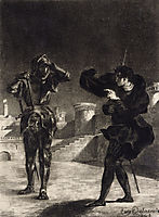 Hamlet Sees the Ghost of his Father, 1843, delacroix