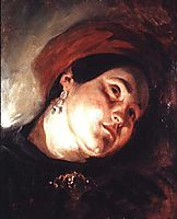 Head of a Woman in a Red Turban, 1831, delacroix