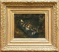Horse Attacked by Lioness, 1842, delacroix
