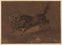 Horses running, delacroix