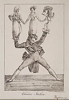 The Italian Theatre, 1821, delacroix
