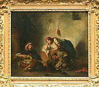 Jewish musicians in Morocco, 1847, delacroix