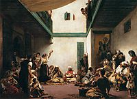 A Jewish wedding in Morocco, 1841, delacroix