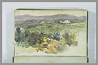 Landscape near Tangier, delacroix