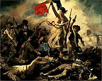 The Liberty Leading the People , 1830, delacroix