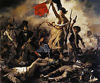 Liberty Leading the People, 28th July 1830, 1830, delacroix