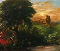 The Lion Hunt, 1859, delacroix