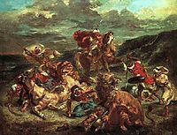 Lion Hunt, 1861, delacroix