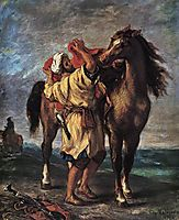 Marocan and his Horse, 18, delacroix