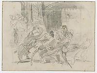 Mazeppa Tied Behind Him on a Wild Horse, 1838, delacroix