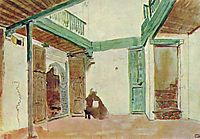 Moroccan courtyard, delacroix