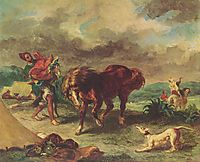 The Moroccan and his Horse, 1857, delacroix