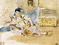 Mounay ben Sultan, 1832, delacroix