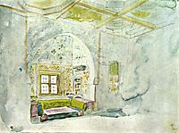 Niche space in the palace of the Sultan of Meknes, delacroix