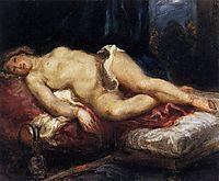Odalisque Reclining on a Divan, 1827-1828, delacroix