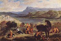 Ovid among the Scythians, 1859, delacroix