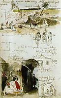 Page from the Moroccan Notebook, 1832, delacroix