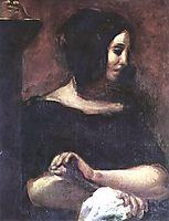 Portrait of George Sand, 1838, delacroix