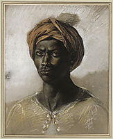 Portrait of a Turk in a Turban, c.1826, delacroix