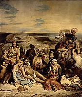 Scenes from the Massacre of Chios, 1822, delacroix
