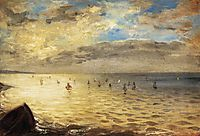 The Sea from the Heights of Dieppe, 1852, delacroix