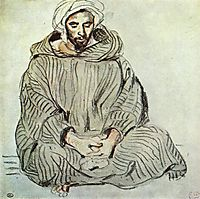 Seated Arab in Tanger, 1832, delacroix
